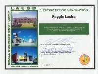 LAUSD Certificate of Graduation_Small Business BootCamp_May 2013