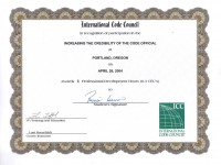ICC_Cert. Incresing the Credibility of the Code Official_April 2004