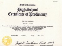 High School Proficiency Diploma- May 1979