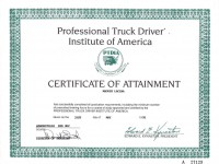 USA Professional Truck Driving Institute Certification